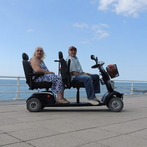 Tandem Mobility Scooter Owners - Ken & Helen - Aberystwyth