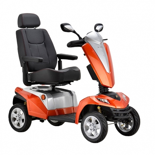 Custom Mobility Scooters - Custom Colours - Flame Orange