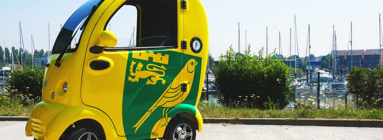 Custom Mobility Scooters - Custom Mobility Scooter Designs - Norwich City FC Design