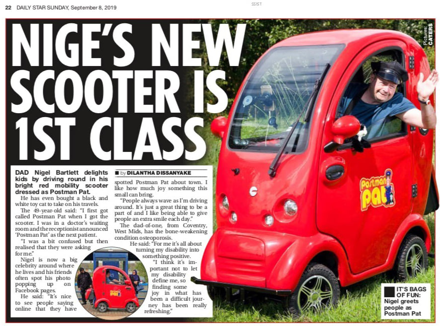 custom mobility scooter - wild and wacky mobility in national press
